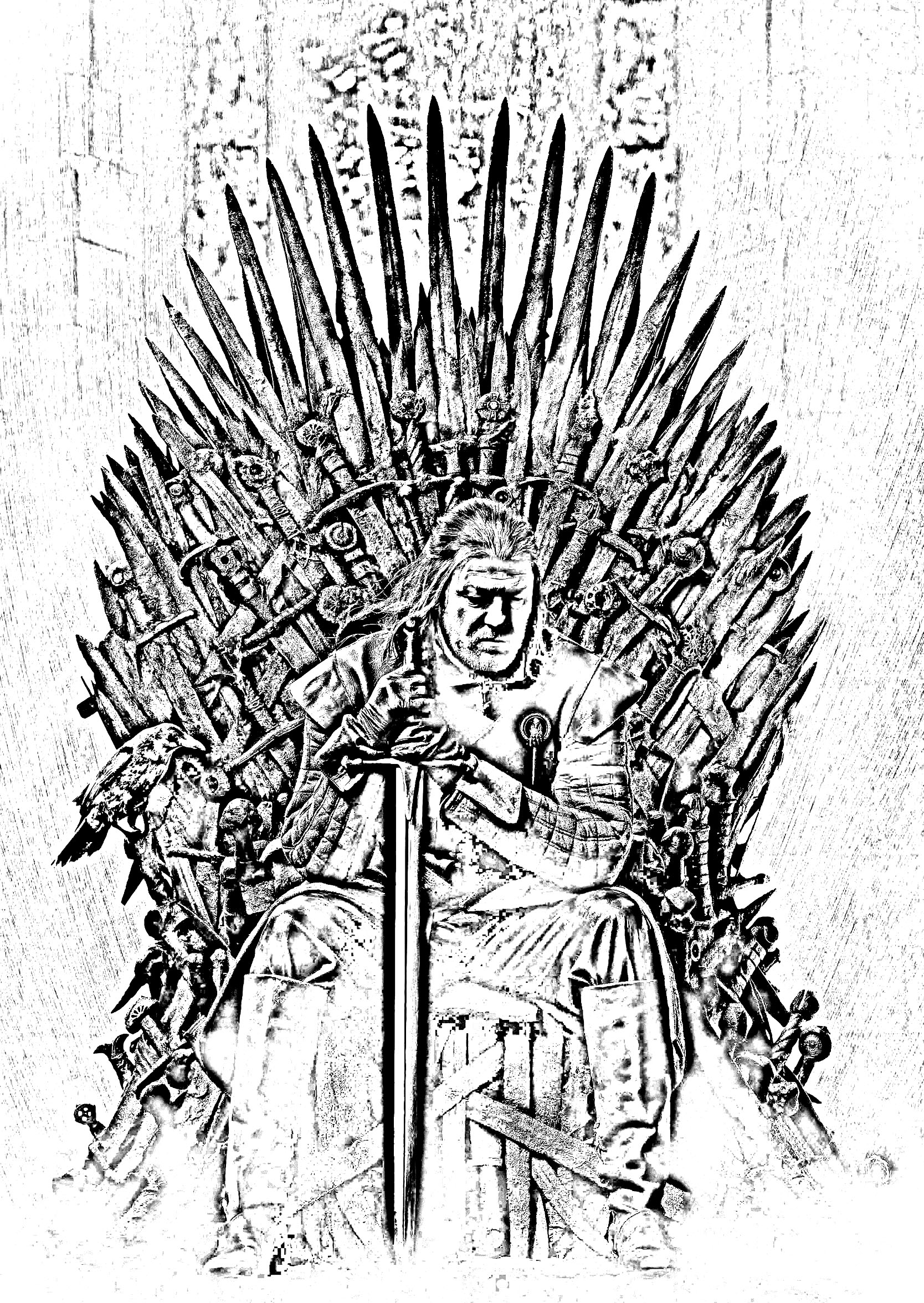 Game Of Throne Ned Starck Trone Coloriage Séries Tv Game Of
