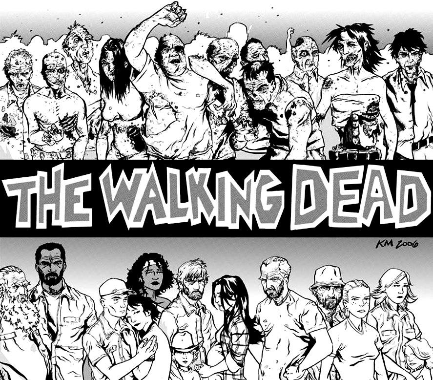 Dessin de The Walking Dead (Couverture Bande dessinée)