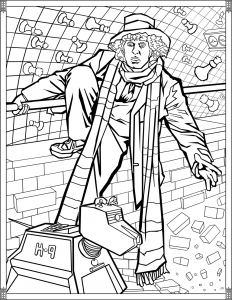 Coloriage Doctor Who Quatrieme Doctor
