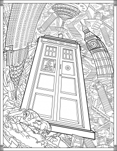 Coloriage Doctor Who TARDIS