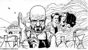 Coloriage adulte breaking bad dessin