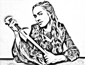 coloriage-adulte-game-of-throne-cersei-lannister free to print