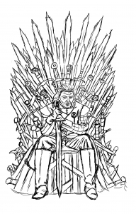 coloriage-adulte-game-of-throne-ned-starck-by-luxame free to print