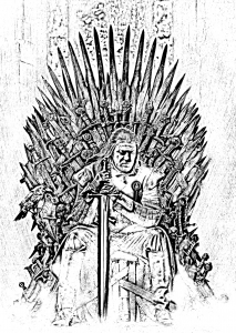 Coloriage adulte game of throne ned starck trone