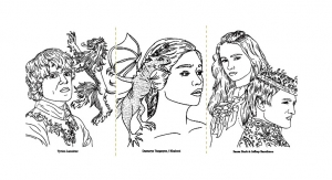 Coloriage adulte game of thrones dessin