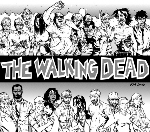 Coloriage adulte the walking dead by kyleiam
