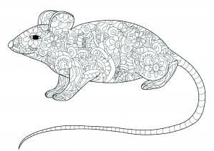 Petite souris remplie de motifs