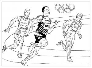 Coloriage adulte jeux olympiques athletisme