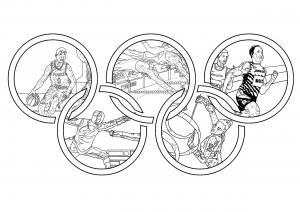 Coloriage adulte jeux olympiques