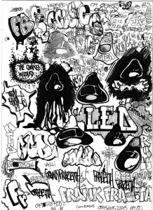 coloriage-page-graffiti-tag-doodle free to print