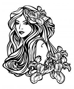 Femme aux longs cheveux