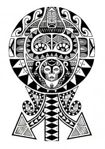 Coloriage tatouage polynesien