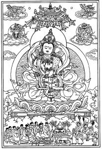 coloriage-adulte-tibetain free to print
