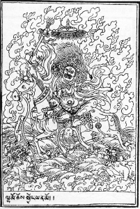 Coloriage palden lhamo tibetain