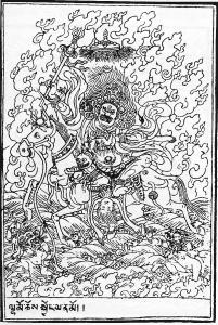 coloriage palden lhamo tibetain