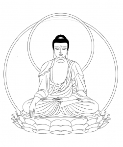 coloriage roi bouddha adulte