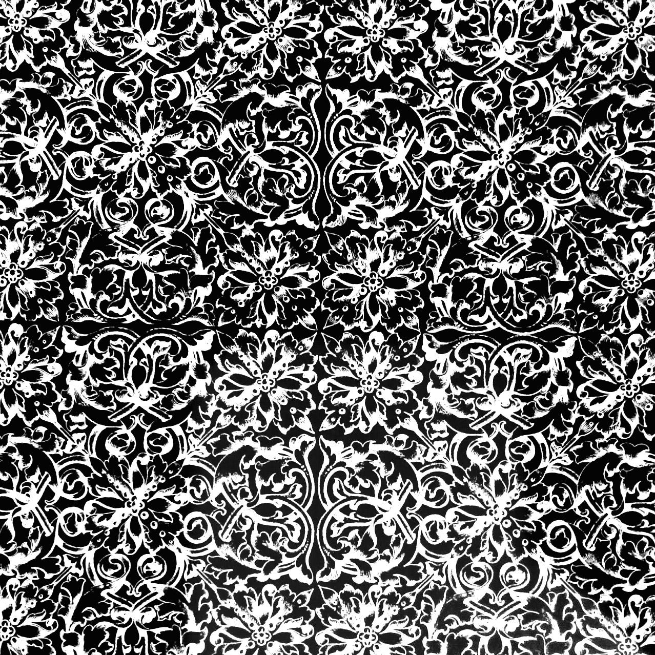 Zoom sur des motifs de Papier peint très ancien, que vous pouvez colorier