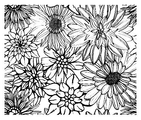 Simples fleurs très Vintage, à colorier pour un moment de pure nostalgie