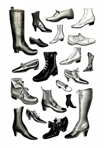 coloriage-adulte-vintage-chaussures free to print