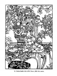 coloriage adulte vintage dessin 1868 frederic bazille