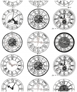 coloriage-difficile-anciennes-montres free to print