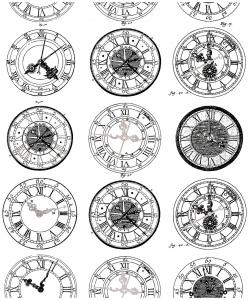 coloriage difficile anciennes montres