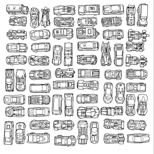 Collection de mini voitures vintage