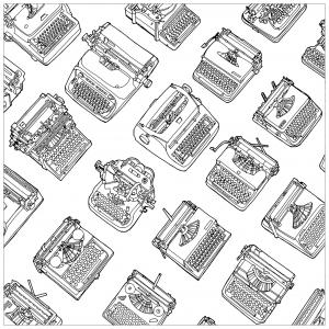 Différentes machines à écrire