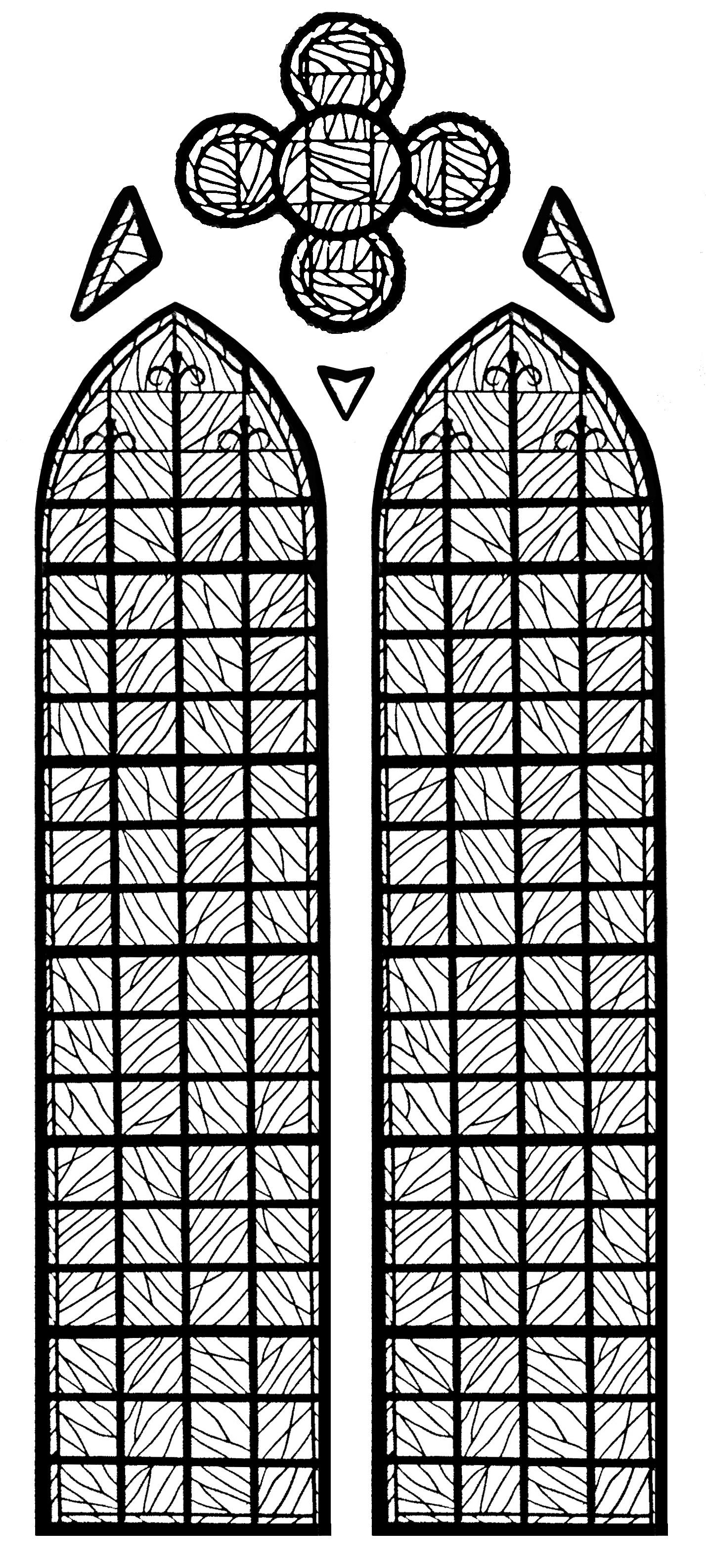 Vitrail de la chapelle du Château d'Yverdon les bains - version 1