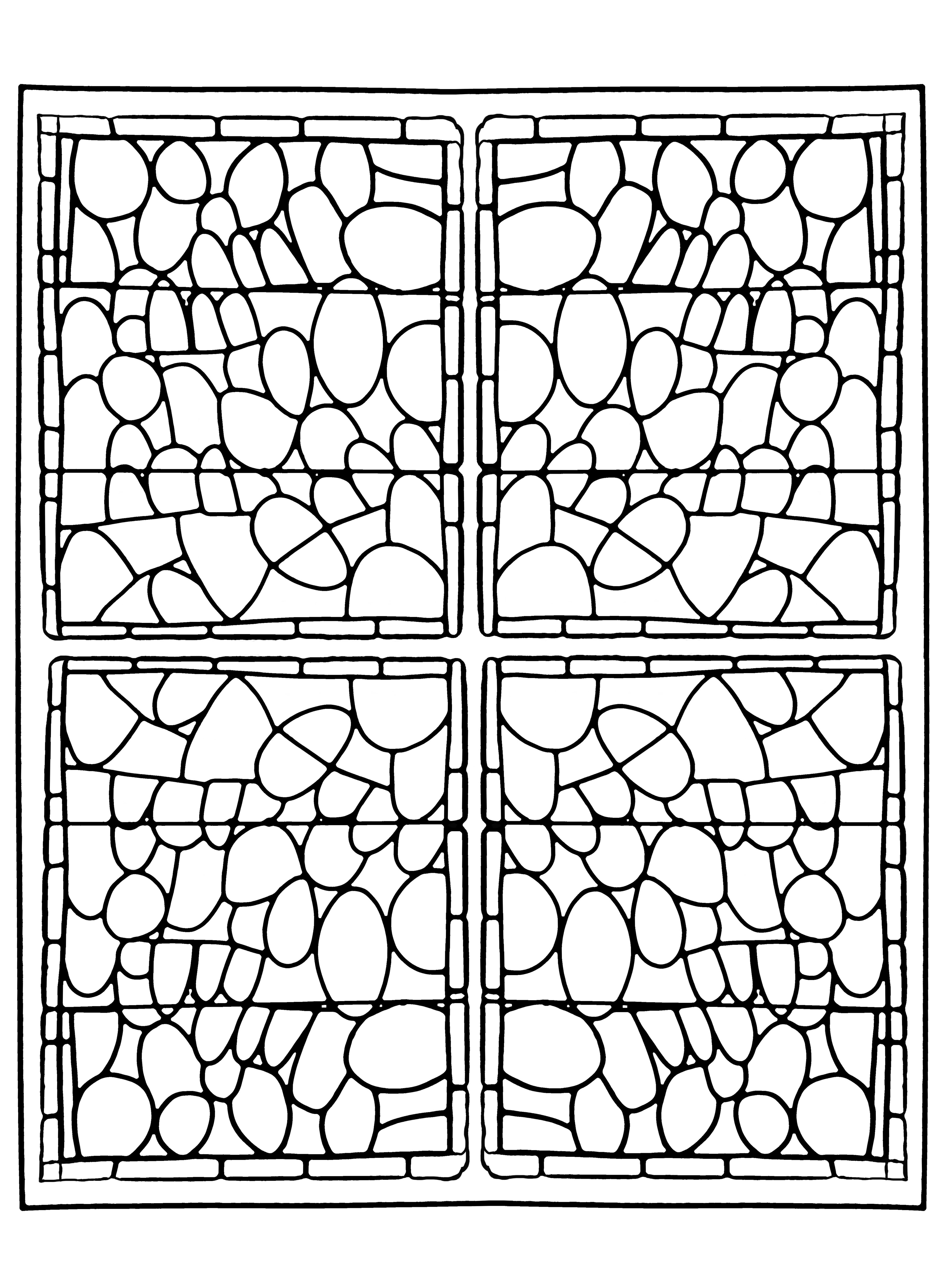 Vitrail de la chapelle du Prieuré de Bethleem à Nîmes (version 3)