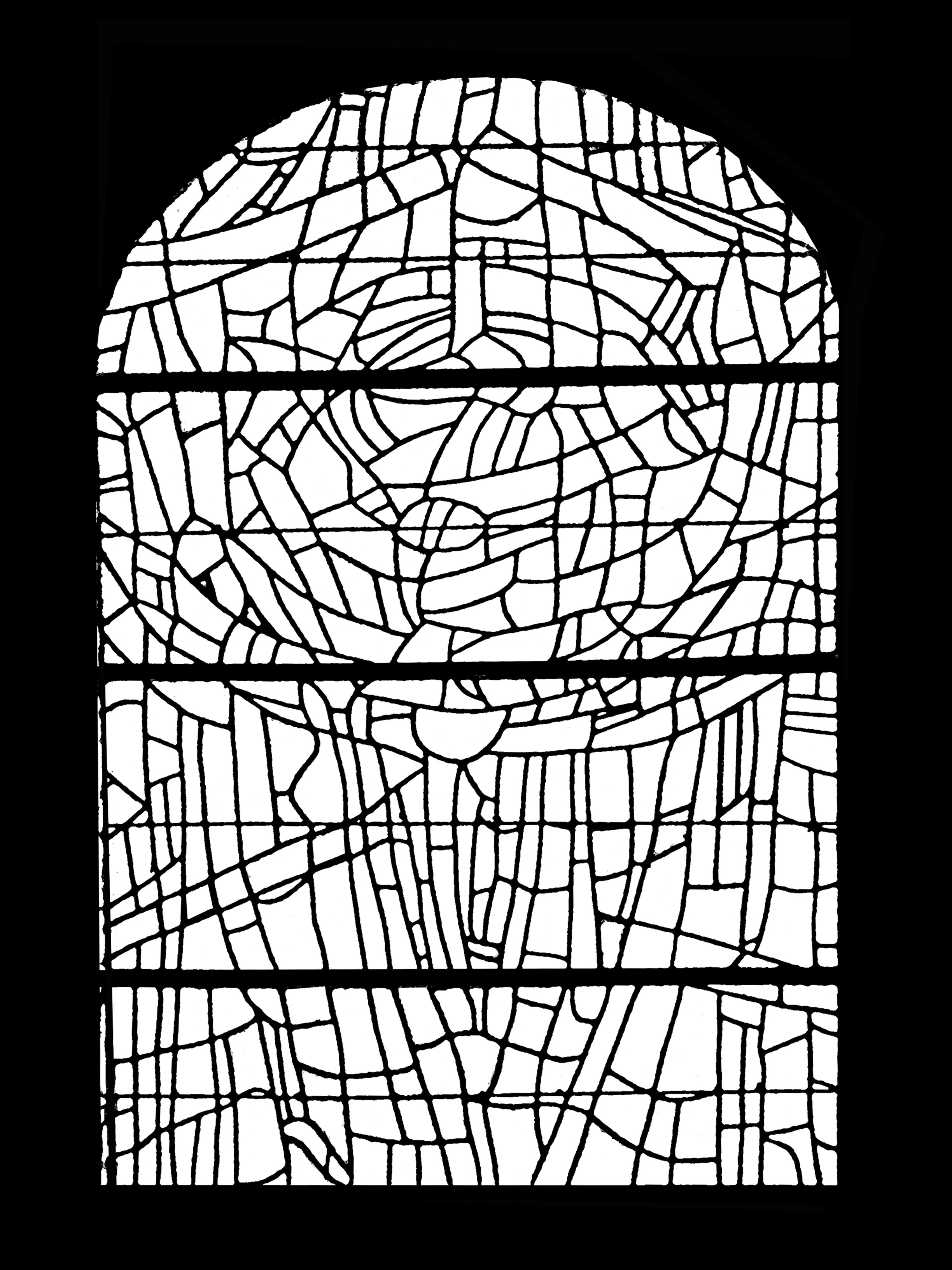 Vitrail du choeur de l'église paroissale Saint Servant sur Oust - version 1