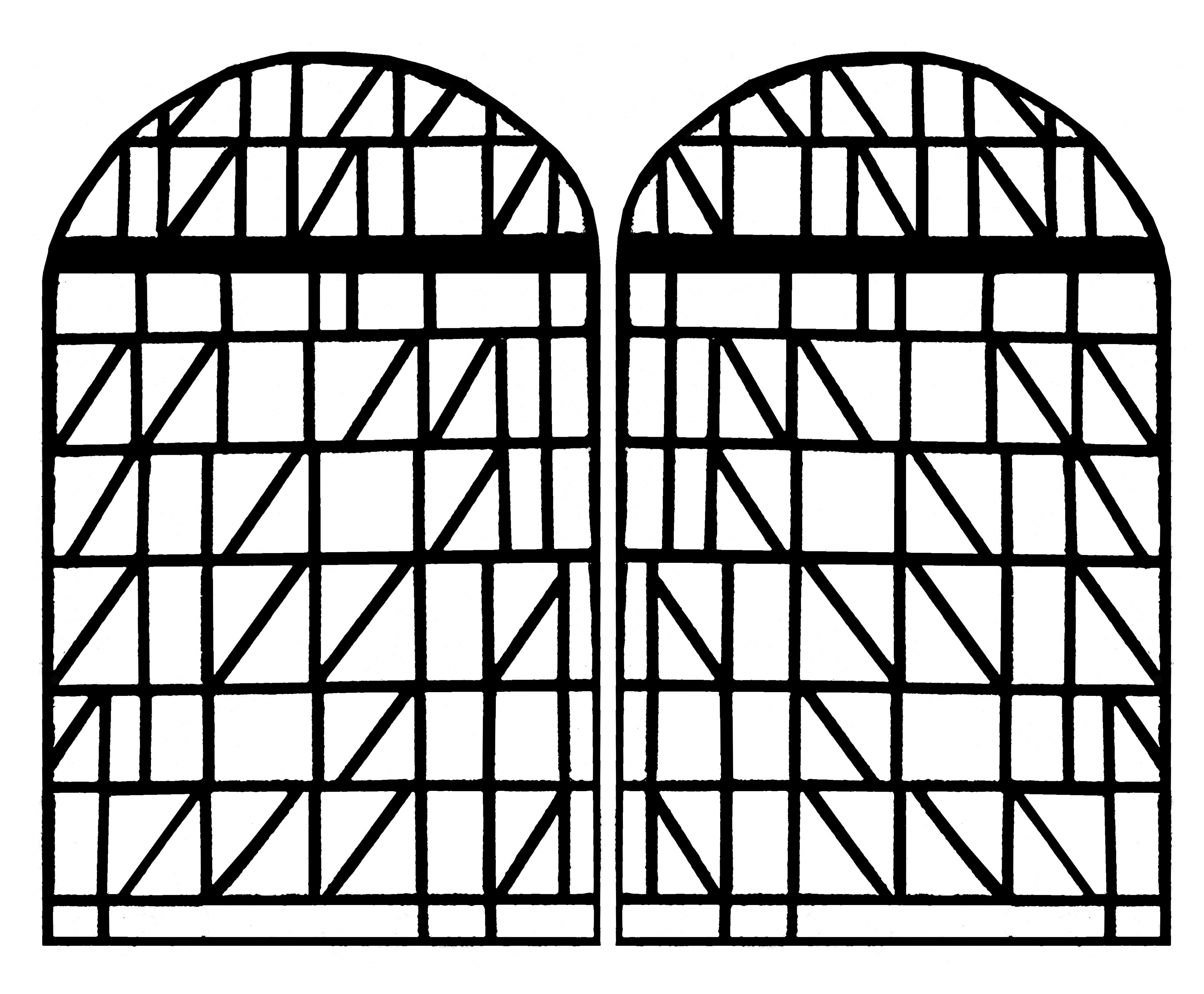 Vitrail moderne de l'église de Villars sur Glane - version 2