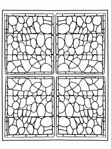 coloriage-adulte-vitrail-chapelle-prieure-de-bethleem-nimes-version-3 free to print