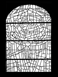 coloriage adulte vitrail choeur eglise paroissale saint servant sur oust france