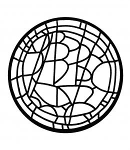 Coloriage adulte vitrail oculus du cloitre du seminaire saint paul louvain la neuve