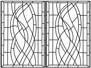 Coloriage vitrail art deco hotel madrid 2