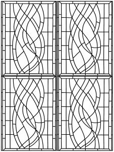 coloriage vitrail art deco hotel madrid 3