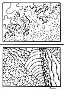 Coloriage adulte imaginationa5 par zenfeerie