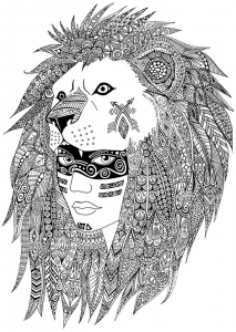 Coloriage adulte indien sabrina