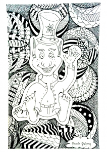 coloriage-adultes-zentangle-op-art free to print