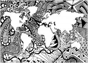 Planisphère Zentangle 4