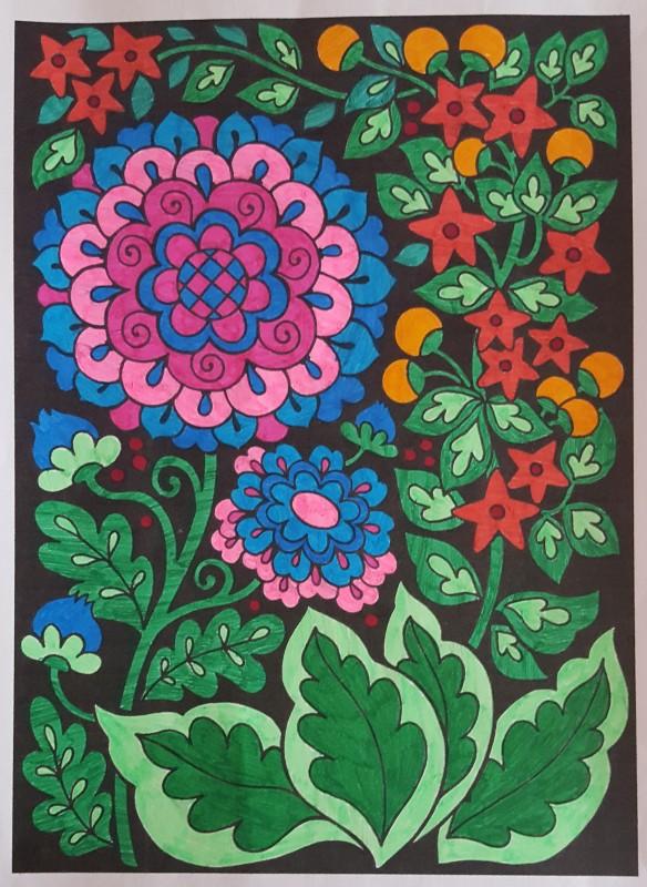 Creation par mimi17, coloriage de la galerie Fleurs et végétation