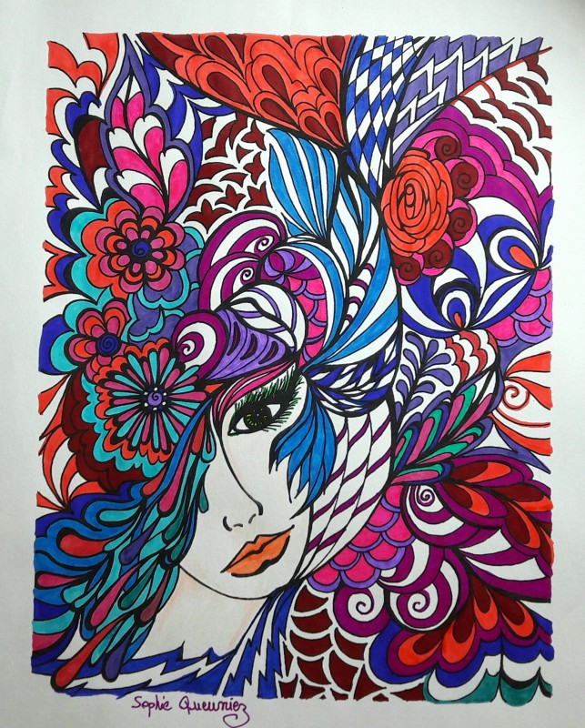 Creation par sophie-queuniez, coloriage de la galerie Anti-stress & Art-thérapie