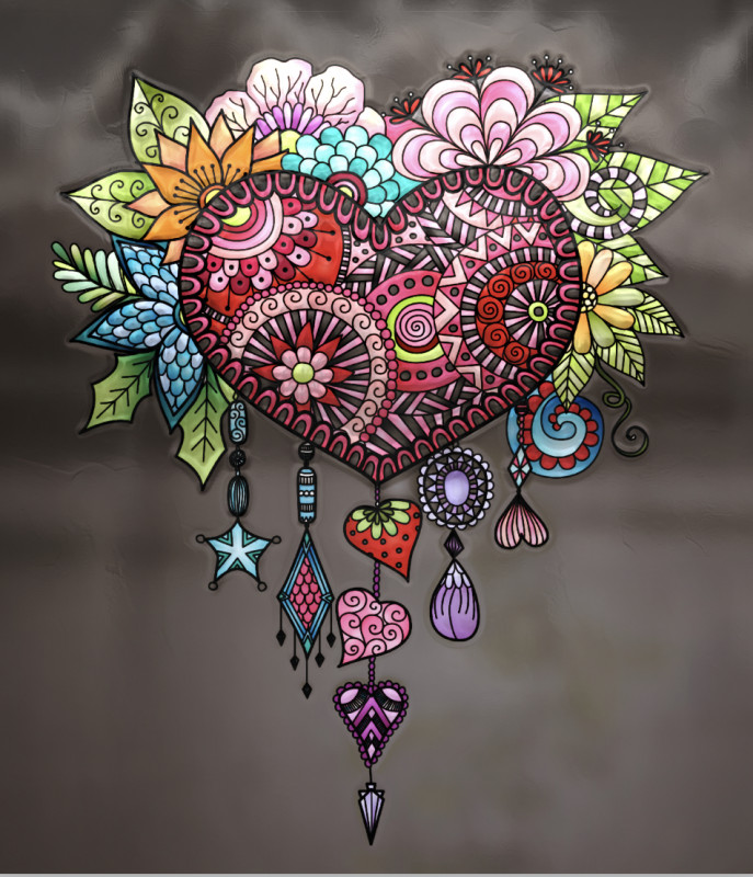 Creation par anjelikas8, coloriage de la galerie Attrape-rêves (Dreamcatchers)