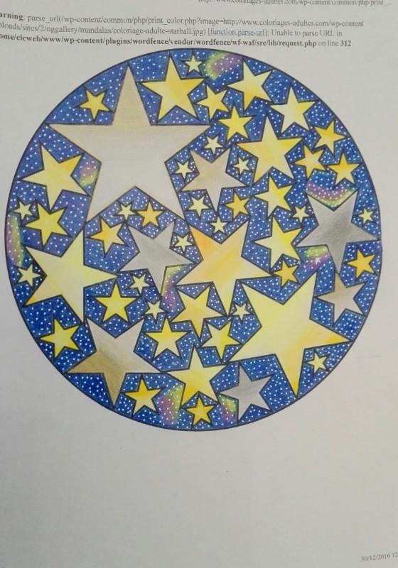 Creation par malou57, coloriage de la galerie Mandalas