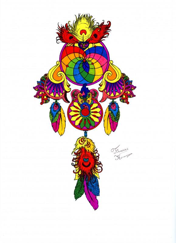 Creation par fk9b31, coloriage de la galerie Attrape-rêves (Dreamcatchers)
