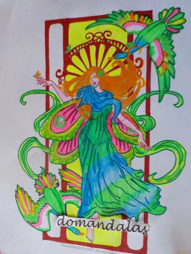 coloriage-art-nouveau