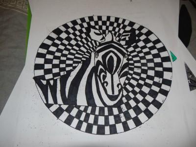 Mandala zebra normal - Mandalas Adult Coloring Pages