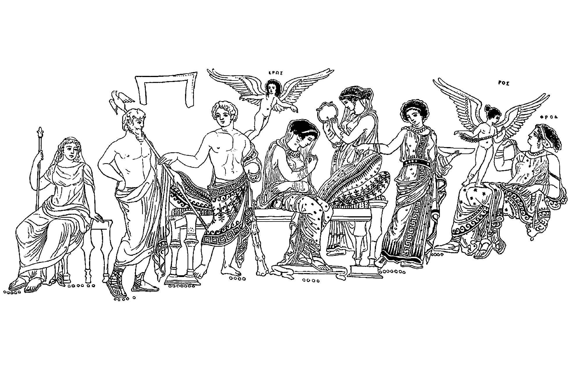 Disegni da colorare per adulti : Grecia Antica - 9