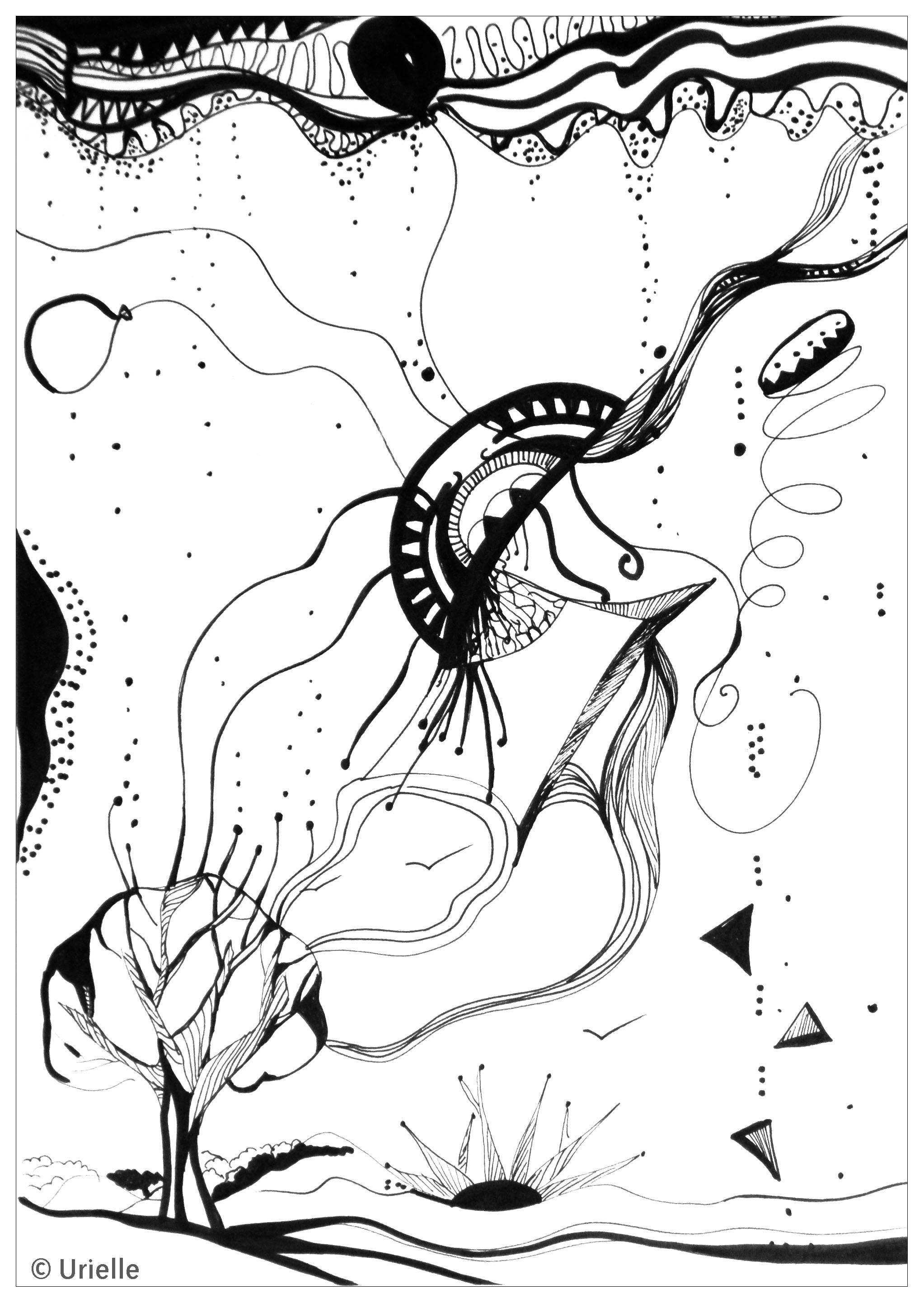 Disegni da colorare per adulti : Anti-stress / Zen - 113